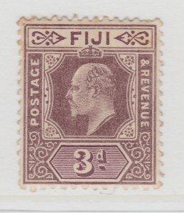 Fiji 1903 3d Wmk Crown CA MH* Stamp A22P14F8624