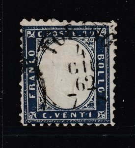 Italy a used 20c from 1862 perf 11.5 x 12