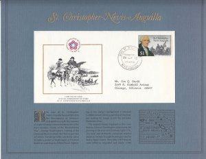 St Christopher Nevis Anguilla , SW222, FDC, 1976, U. S. Bicentennial