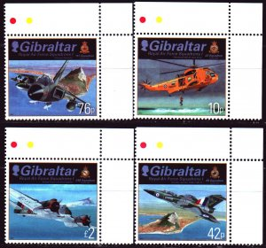Gibraltar. 2012. 1473-76. Military fighter. MNH.