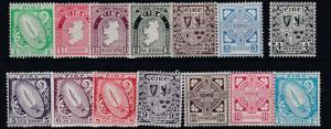 IRELAND 1940 - 49  S G 111 - 122  SET OF 14  CAT £120