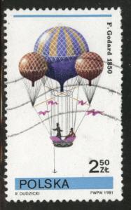 Poland Scott 2435 Used CTO favor canceled Balloon stamp 1981