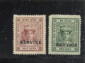 India Indore #O1-2 mint cv $1.35