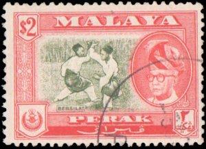 Malaya Perak #136, Incomplete Set, 1957-1961, Used