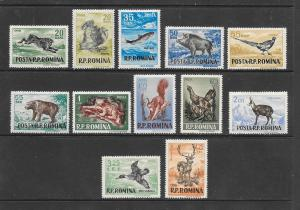 WILD ANIMALS - ROMANIA #1082-93  LH
