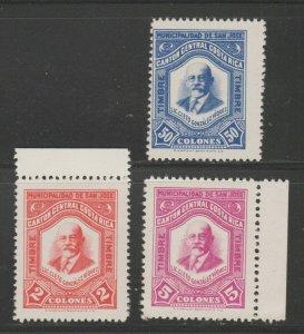 MX-78 fiscal revenue stamp c Shipping note - Costa Rica mnh gum