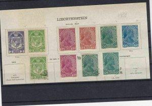 Liechenstein 1917 Mounted Mint + Used Stamps  Ref: R7059