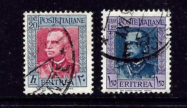 Eritrea 151 and 156 Used 1931 issues