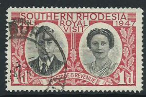 Southern Rhodesia SG 63 Used