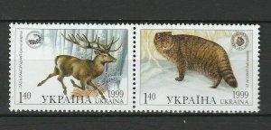 Ukraine 1999 Wildtiere Postfrisch