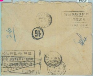 86105 - URUGUAY - POSTAL HISTORY -  CENSORED  mourning COVER to ITALY 1937