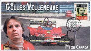 CA17-011, 2017, FDC, F1 in Canada, Gilles Villeneuve, Day of Issue,