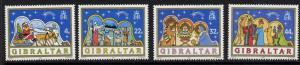 Gibraltar 558-61 MNH Christmas, Santa, Holy Family, Adoration of the Magi