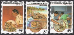Cocos Islands Scott 126-128