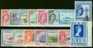 Cayman Islands 1953-59 Set of 15 SG148-161a Fine Mint Never Hinged