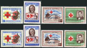 Guatemala #C235-C242 World Refugee Year overprints/surcharges MNH