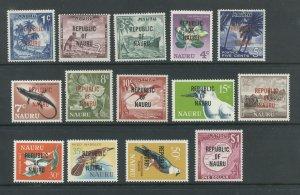 Nauru 72-85  MNH some w/ dist. gum cgs