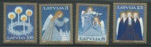 1994 Latvia Scott Catalog Number 385-388 Unused Never Hinged