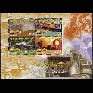 Papua New Guinea MNH S/S 1337 Gold Mining SCV 10.00