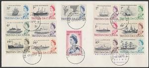 TRISTAN DA CUNHA 1965 Ships definitive set on FDC to Rhodesia..............55495