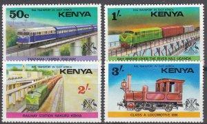 Kenya, Sc 64-67, MNH, 1976, Railways