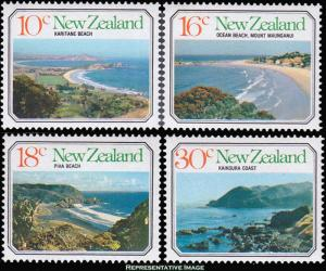 New Zealand MNH 626-9 Seascapes & Beaches 1977