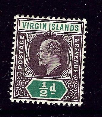 Virgin Is 29 MH 1904 KEVII issue