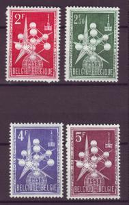 J21332 Jlstamps 1957-8 belgium set mh #500-3 expo