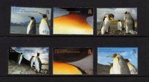 South Georgia  #328-33 (2005 Penguins set) VFMNN CV $19.50