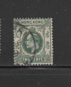 HONG KONG #88  1904  2c  KING EDWARD VII    USED F-VF  c
