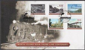 NEW ZEALAND 2008 Main Trunk Railway FDC.....................................R130