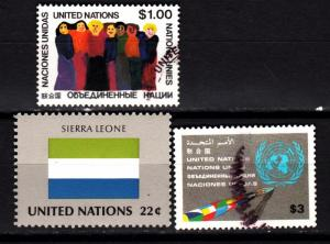 UN NY 293, 446 used, 464 mnh