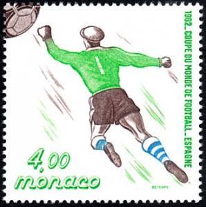 Monaco # 1322d mnh ~ 4fr World Cup Soccer Player