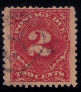 US Sc #J62 Used  Postage Due 2c F-VF