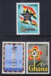Ghana 98-100 MNH VF