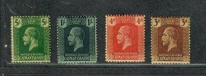 Cayman Islands Sc#64-67 M/H/F-VF, Cv. $23.75