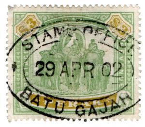(I.B) Malaya States Revenue : Perak Duty $3