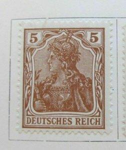 A8P46F75 Deutsches Reich Germany 1920-21 5pf fine mh* stamp