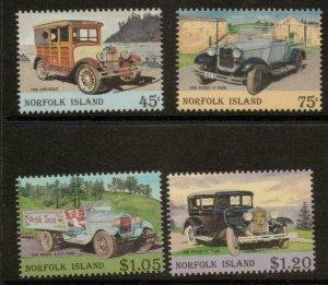 NORFOLK ISLAND SG583/6 1995 VINTAGE MOTOR VEHICLES MNH