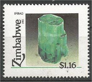 ZIMBABWE, 1993, MNH $1.16, Minerals Scott 681