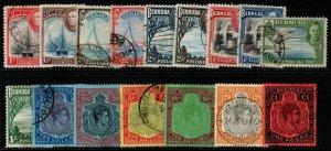 BERMUDA SG110/21d 1938-53 DEFINITIVE SET USED