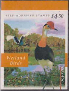 Australia - 1997 Birds $4.50 Self-Adhesive Booklet SG SB116