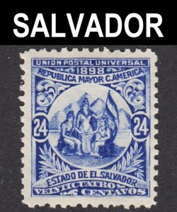 El Salvador Scott 185 wtmk 117 F to VF mint OG HR 1st issue..