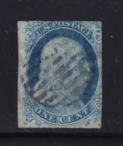 7 F-VF used neat cancel with nice color scv $ 130 ! see pic !