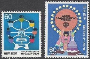 Japan 1550-1   MNH  World Communications Year 1983