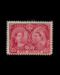 VINTAGE:CANADA- 1897 OG LH FRESH SCOTT # 61 $1000 LOT # 1897XAN