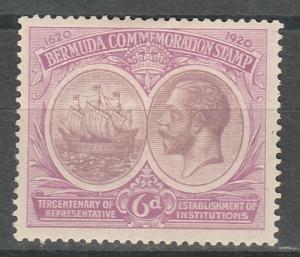 BERMUDA 1920 KGV 300TH ANNIVERSARY 6D