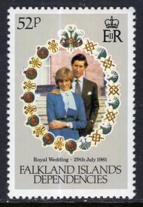 Falkland Islands Dependencies 1L61 MNH VF