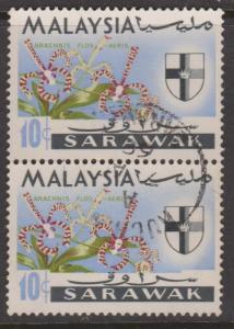 Sarawak Sc#232 Used Pair