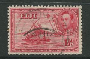 Fiji - Scott 132a - KGVI - Definitive - 1940 - Used - Single1.1/2p - Stamp